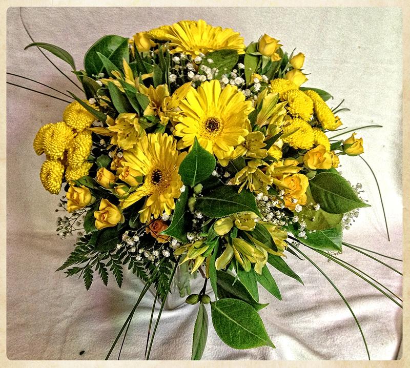 Bouquet aniversario amarillo