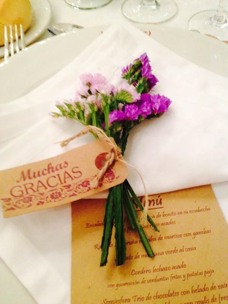 Decoración banquete boda