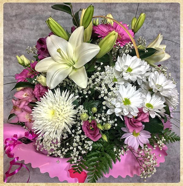 Cesta aniversario flor variada