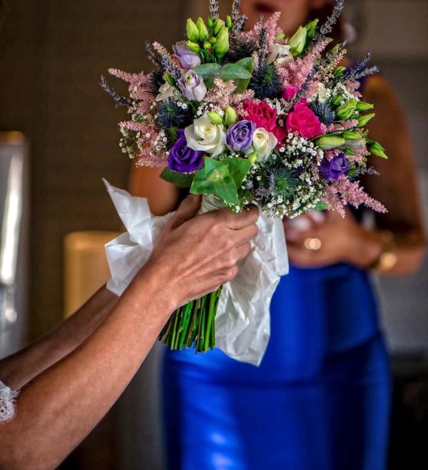 Ramo tipo bouquet novia