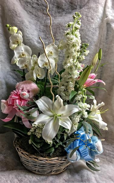 Cesta combinada con flores y plantas 100€